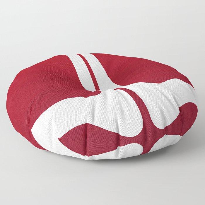 Striped Tomato Floor Pillow