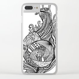 Zentangle Snail Clear iPhone Case