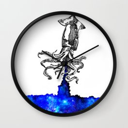 Space squid Wall Clock