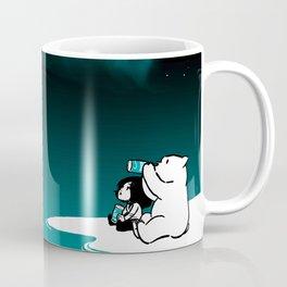 Icelandic bear, aurora borealis Coffee Mug
