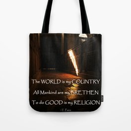 Church of Humanity Inspirational Tote Bag