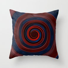 Re-Created Spin Painting (Midnight & Burgundy) Throw Pillow