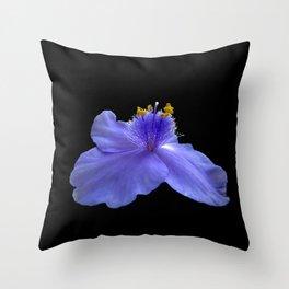 Think Flowers - Blue Spiderwort Throw Pillow