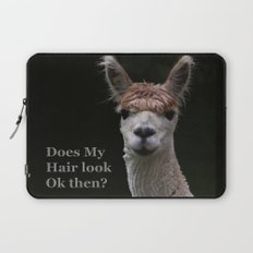 Funny hairstyle alpaca Laptop Sleeve