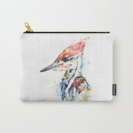 Woodpecker Colorful Watercolor Bird Painting Carry-All Pouch