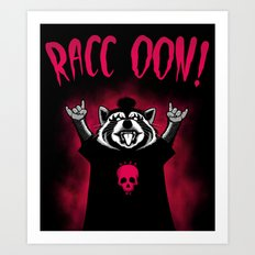 Raccoon! Art Print