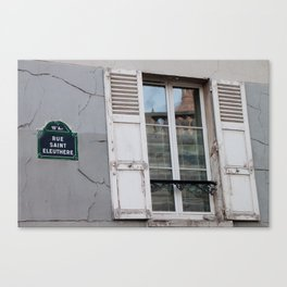 Rue Saint Eleuthere Canvas Print