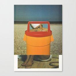 Trash Can Sally Canvas Print