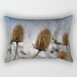 Winter Teasels Rectangular Pillow