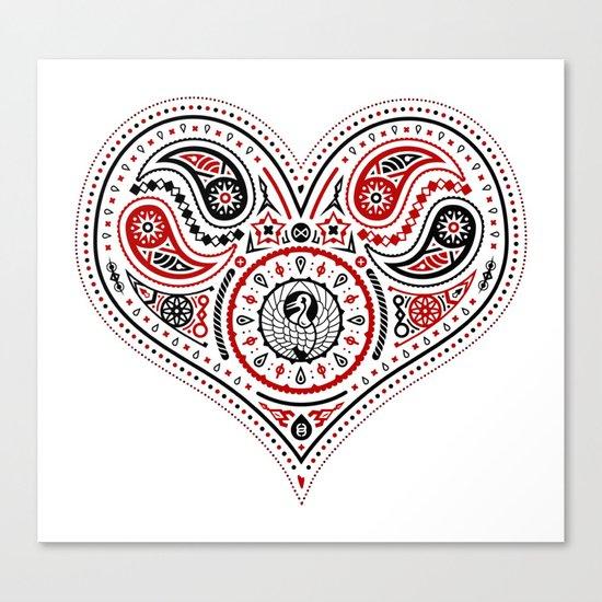 83 Drops - Hearts (Red & Black) Canvas Print