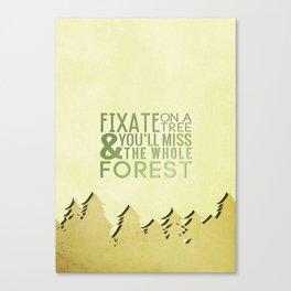 Fixate On A Tree Canvas Print
