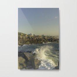 Wave Crashing on the Rocks in Brazil II Metal Print