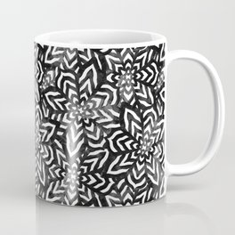 I don't need to improve - Black and white Coffee Mug