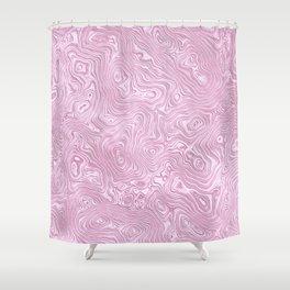 Powder Pink Silk Moire Pattern Shower Curtain
