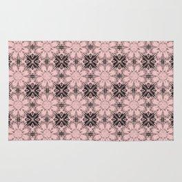 Rose Quartz Floral Geometric Rug