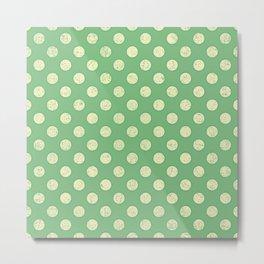 Green White Spot Metal Print