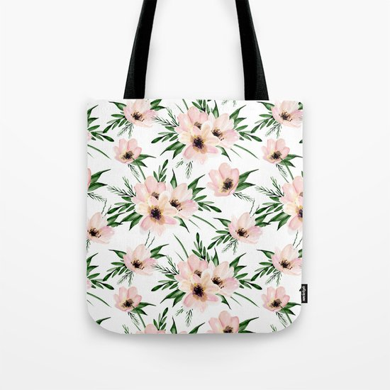 Pink bouquet. Watercolor Tote Bag