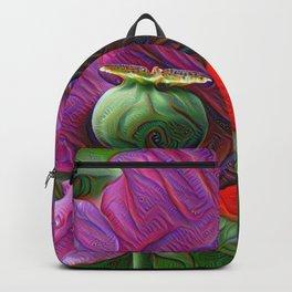 DeepDream Flowers, Poppy, DeepDream style Backpack