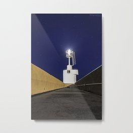 Lighthouse Landscape in Salento Metal Print