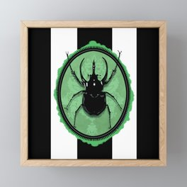Juicy Beetle GREEN Framed Mini Art Print