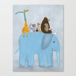 the big blue elephant Canvas Print