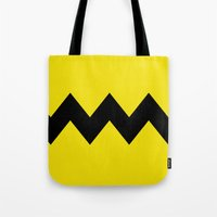 charlie brown Tote Bags featuring Charlie Brown by Dustin Hall