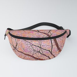 Interconnected Paths (coral-orange-persimmon) Fanny Pack