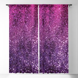 Purple Pink Ombre Lady Glitter #1 #shiny #decor #art #society6 Blackout Curtain