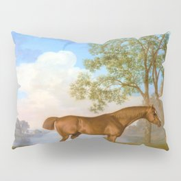 Pumpkin With A Stable-lad - George Stubbs Pillow Sham