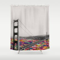 michael jackson Shower Curtains featuring It's in the Water by Bianca Green