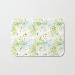 Oasis Floral Pattern Bath Mat