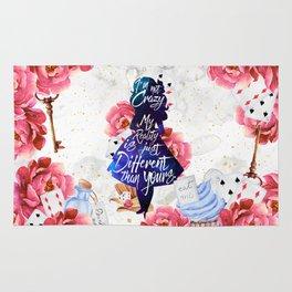 Alice in Wonderland - I'm Not Crazy Rug