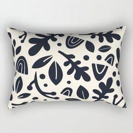 Arc Plants Black & White Rectangular Pillow