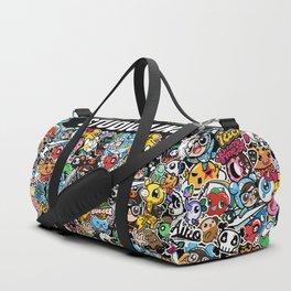 Black cute graphic Duffle Bag