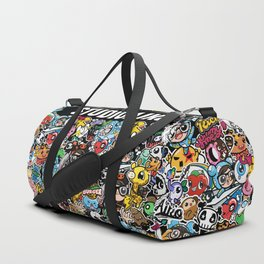 Black cute graphic Duffle Bag