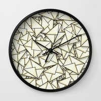 geek Wall Clocks featuring Email by 10813 Apparel