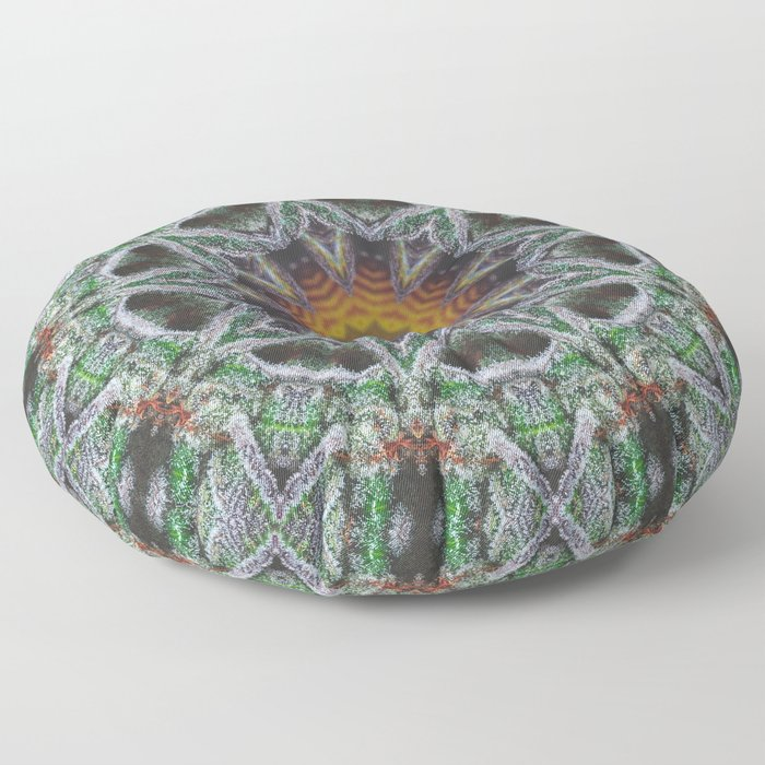 Crystal Feather Leaf Floor Pillow