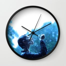 In love with the rain Wall Clock