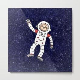 Sloth Spaceman Metal Print