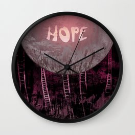 Hope, Climbing / Wonderful Planet 13-11-16 Wall Clock