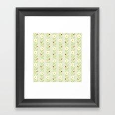 Daisies & Ladybugs Framed Art Print
