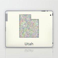 Utah map Laptop & iPad Skin