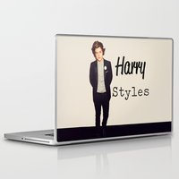 harry styles Laptop & iPad Skins featuring Harry Styles by Marianna