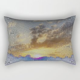 Digital Sunset Moon Day Fractal Harmonic Magick #1 Rectangular Pillow