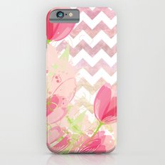 Chevron Tulips iPhone 6s Slim Case