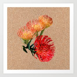 Tulip_Sugerbush_Pincushion Art Print