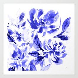 Blue Lya Art Print