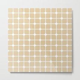 Modern Cubes - Gold + Teal Metal Print