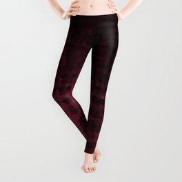Black maroon mosaic Leggings