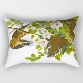 Carolina Pigeon Vintage Illustration Rectangular Pillow